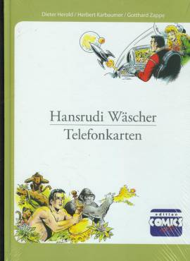 Hansrudi Wäscher - alle Telefonkartenmotive Hardcover B mit Falk-Telefonkarte